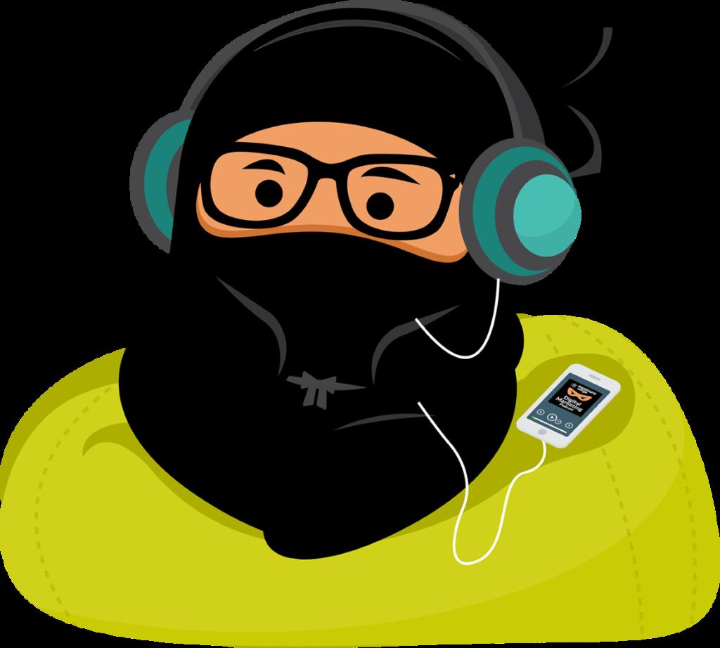 shinobi listening to music